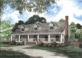 Country Southern House Plan 62067 Elevation