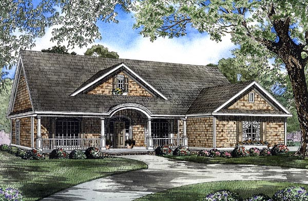 Country Southern House Plan 62069 Elevation
