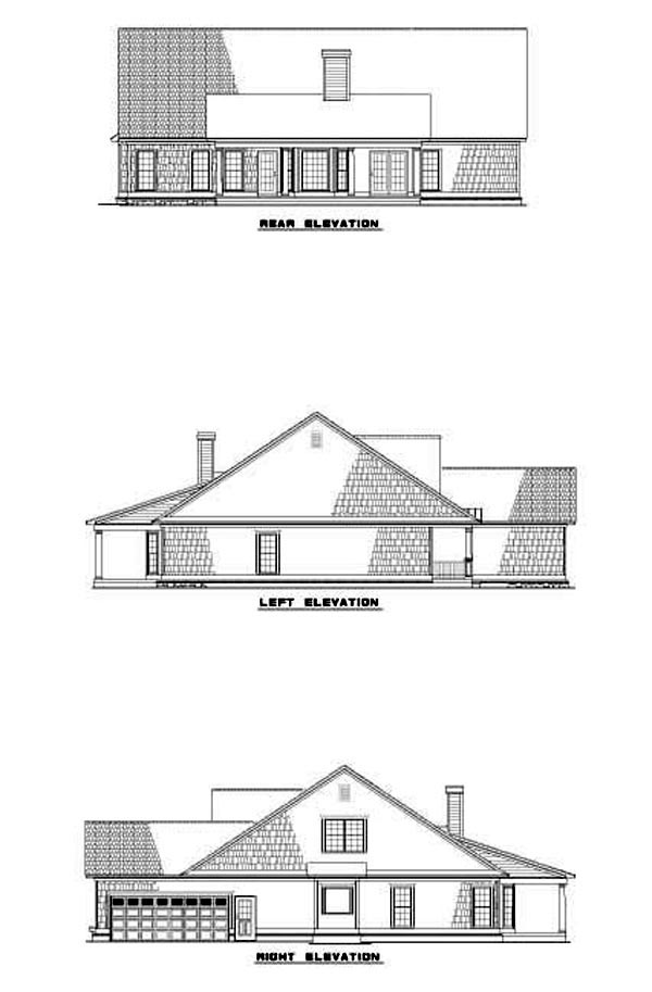 Country Southern House Plan 62069 Rear Elevation