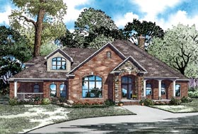 Craftsman European House Plan 62070 Elevation