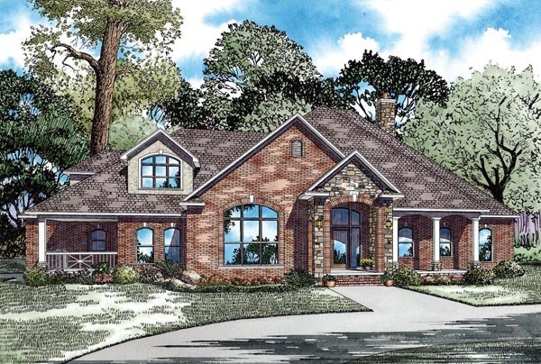 Craftsman European Elevation of Plan 62070