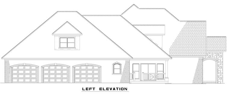 Craftsman, European House Plan 62070 with 4 Beds, 4 Baths, 3 Car Garage Picture 3
