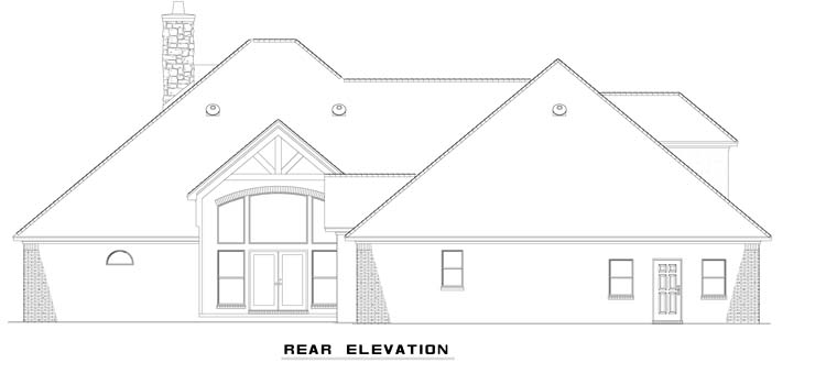 Craftsman European House Plan 62070 Rear Elevation