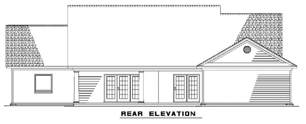 Country Southern House Plan 62074 Rear Elevation