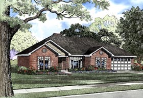 Ranch Traditional House Plan 62075 Elevation