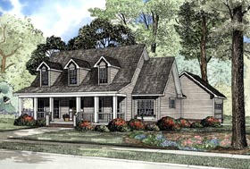 Cape Cod Country House Plan 62076 Elevation