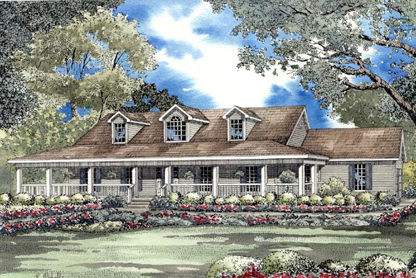 Country Southern House Plan 62077 Elevation