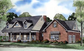 Country , Cape Cod House Plan 62079 with 5 Beds, 5 Baths, 2 Car Garage Elevation