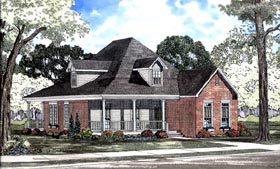 House Plan 62080 | Country Style Plan with 1928 Sq Ft, 3 Bedrooms, 2 Bathrooms, 2 Car Garage Elevation