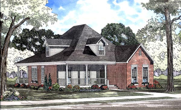 Country House Plan 62080 Elevation
