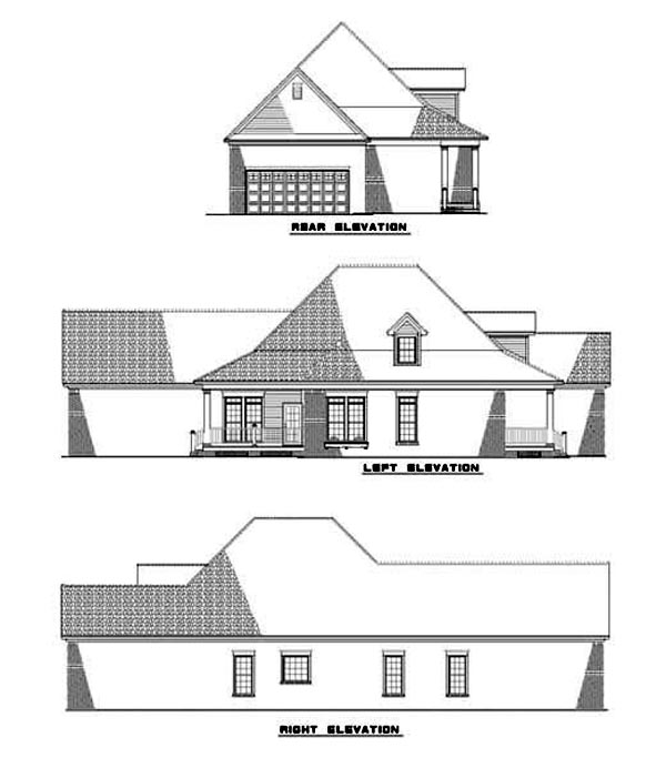 Country House Plan 62080 Rear Elevation