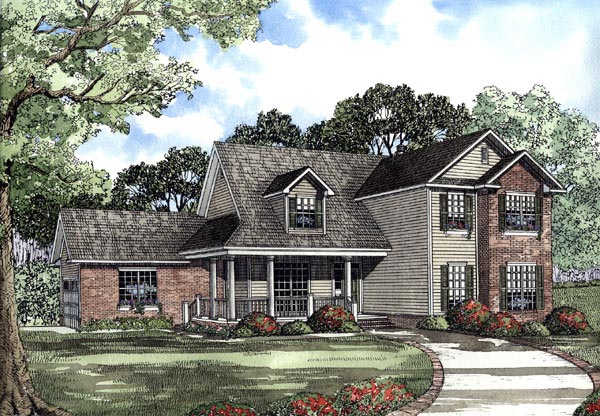 Country Traditional House Plan 62081 Elevation
