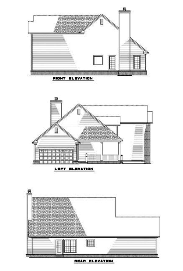 Country Traditional House Plan 62081 Rear Elevation