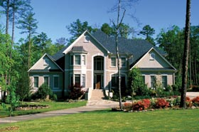European , Traditional House Plan 62082 with 5 Beds, 5 Baths, 3 Car Garage Elevation