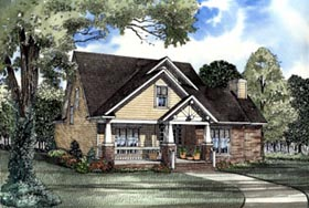 House Plan 62083 | Country, Craftsman, Traditional Style House Plan with 2146 Sq Ft, 3 Bed, 3 Bath, 2 Car Garage Elevation