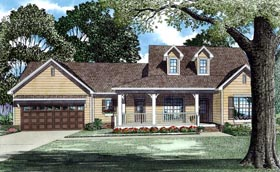 Country Southern Traditional House Plan 62084 Elevation