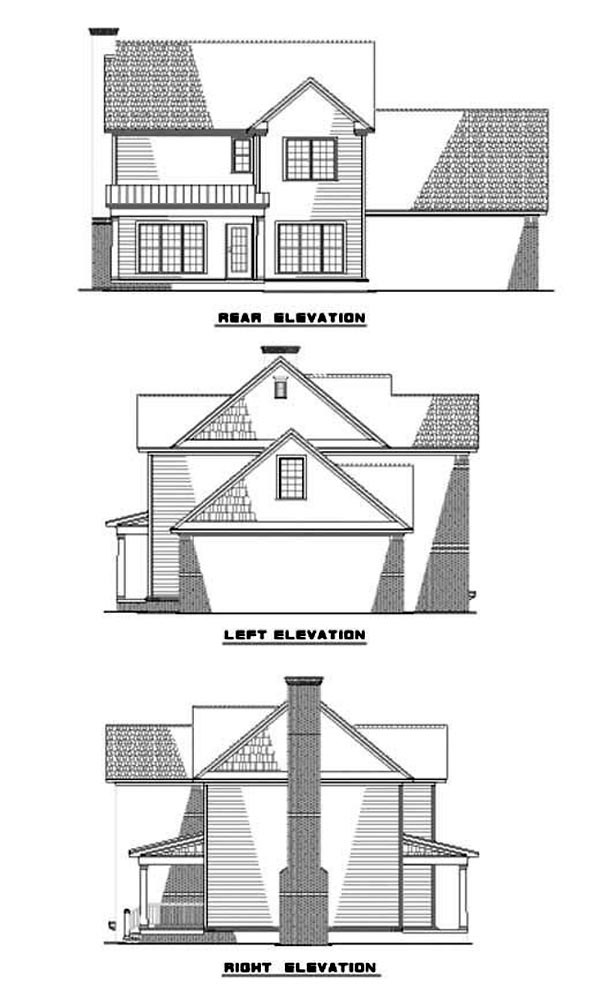 Country Traditional House Plan 62085 Rear Elevation