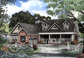 Cape Cod , Country House Plan 62087 with 3 Beds, 3 Baths, 2 Car Garage Elevation