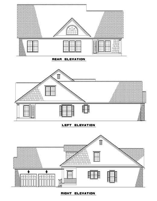 Cape Cod Country House Plan 62087 Rear Elevation