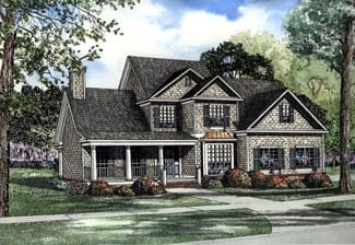 Country, Traditional House Plan 62089 with 5 Beds, 3 Baths, 2 Car Garage Elevation