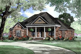 House Plan 62090 | European Southern Style Plan with 2556 Sq Ft, 4 Bed, 3 Bath, 3 Car Garage Elevation