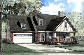 Bungalow Country Tudor House Plan 62093 Elevation