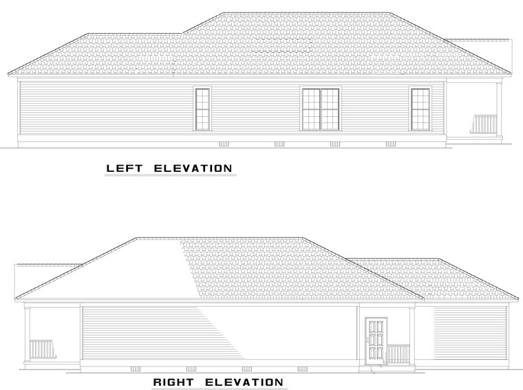 Country, Southern House Plan 62096 with 2 Beds, 2 Baths, 2 Car Garage Picture 1