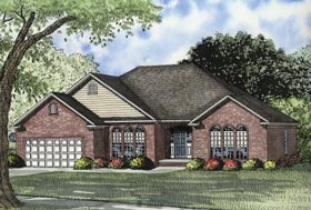 European Traditional House Plan 62097 Elevation