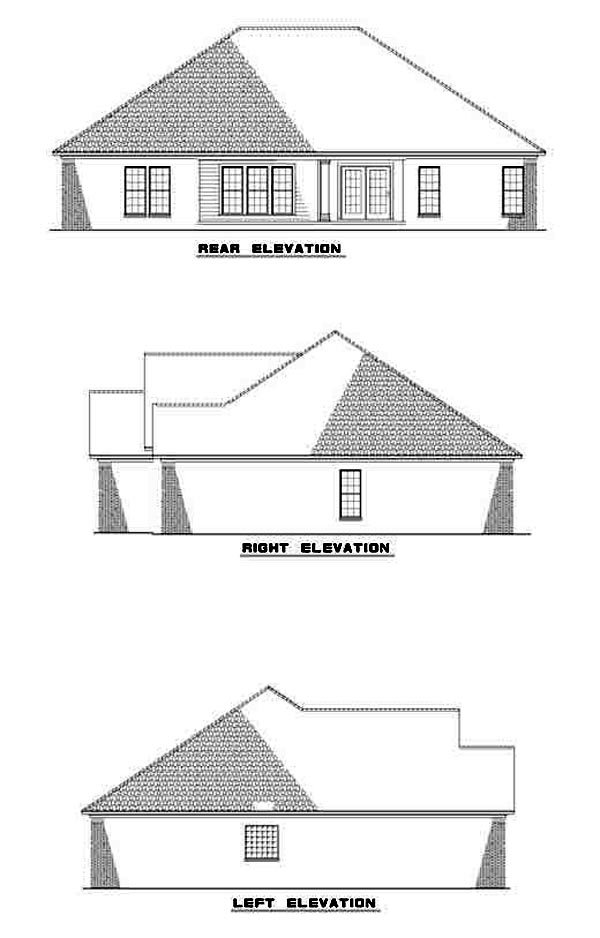 European Traditional House Plan 62097 Rear Elevation