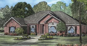 House Plan 62098 | European Style Plan with 2671 Sq Ft, 4 Bed, 3 Bath, 2 Car Garage Elevation