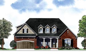 House Plan 62099 Elevation