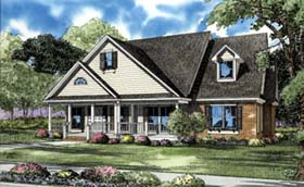 House Plan 62100 | Country Traditional Style Plan with 2296 Sq Ft, 3 Bedrooms, 3 Bathrooms, 2 Car Garage Elevation