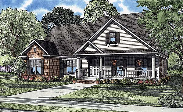 Country Traditional House Plan 62101 Elevation