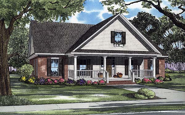 Country House Plan 62102 Elevation