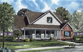 Country Farmhouse House Plan 62103 Elevation