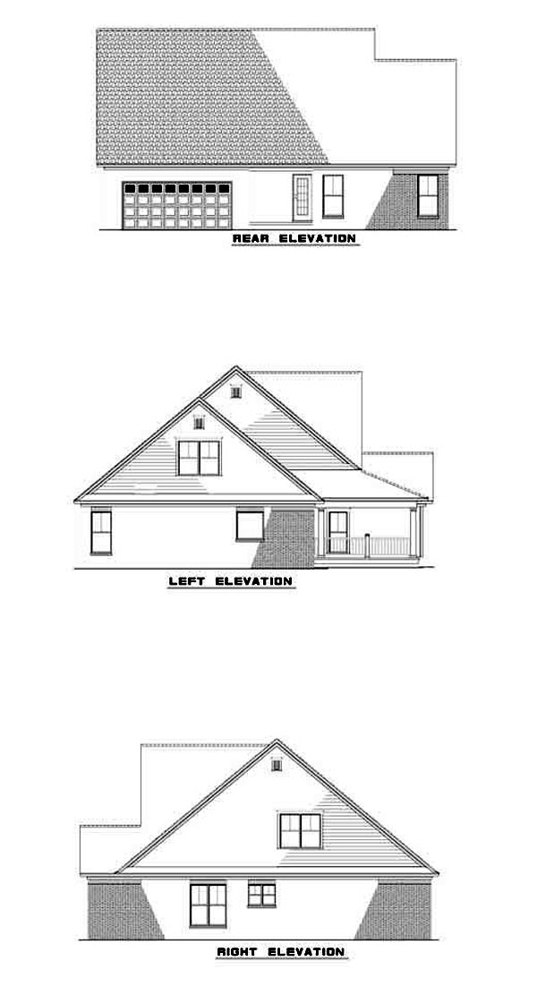Country Farmhouse House Plan 62103 Rear Elevation