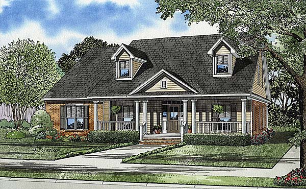 Cape Cod Country Southern House Plan 62104 Elevation