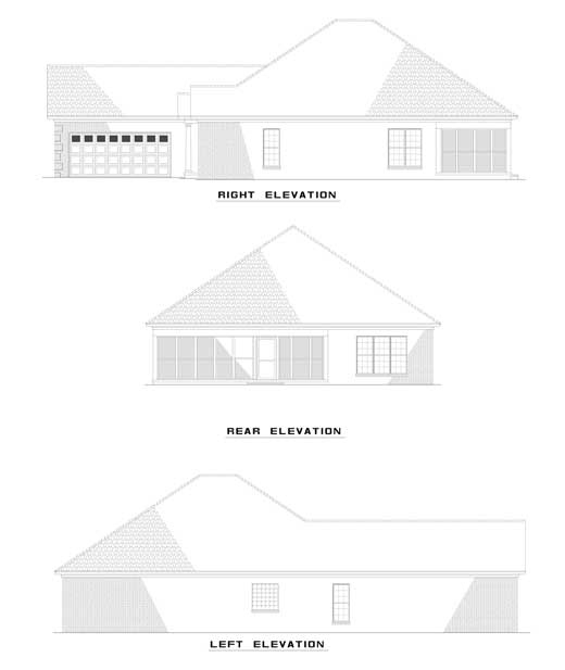Traditional House Plan 62109 Rear Elevation