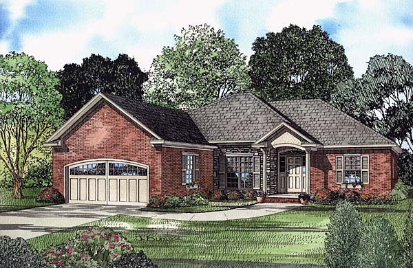 Traditional House Plan 62111 Elevation