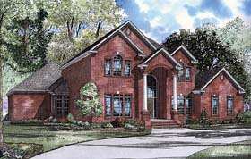 Traditional , Colonial House Plan 62112 with 4 Beds, 5 Baths, 3 Car Garage Elevation