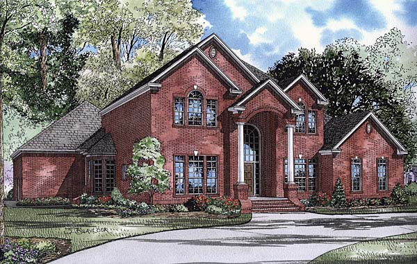 Colonial, Traditional House Plan 62112 with 4 Beds, 5 Baths, 3 Car Garage Elevation