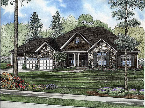 Bungalow Country House Plan 62113 Elevation