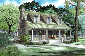 Cottage Country Southern House Plan 62122 Elevation