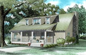 House Plan 62123 | Bungalow Country Southern Style Plan with 1970 Sq Ft, 4 Bed, 4 Bath, 2 Car Garage Elevation