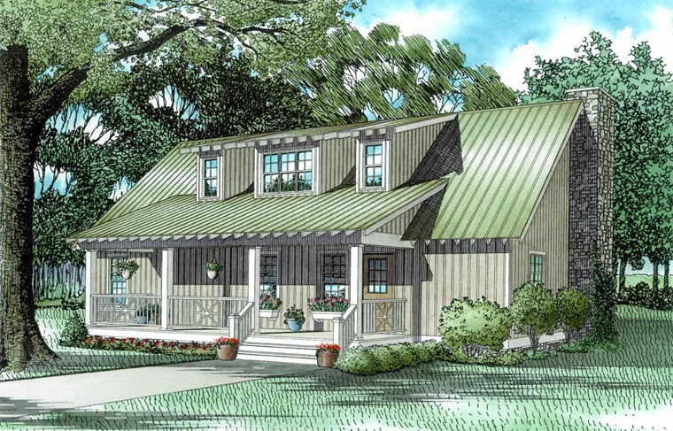 Bungalow Country Southern House Plan 62123 Elevation