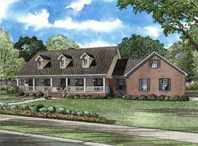 Country House Plan 62125 with 5 Beds, 4 Baths, 4 Car Garage Elevation