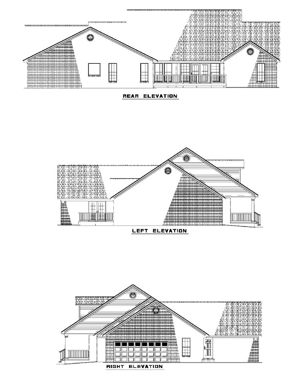 Country House Plan 62126 Rear Elevation
