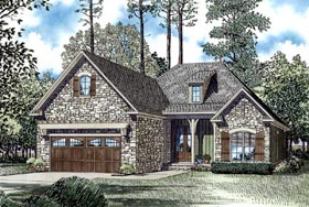 House Plan 62130 with 3 Beds, 2 Baths, 2 Car Garage Elevation