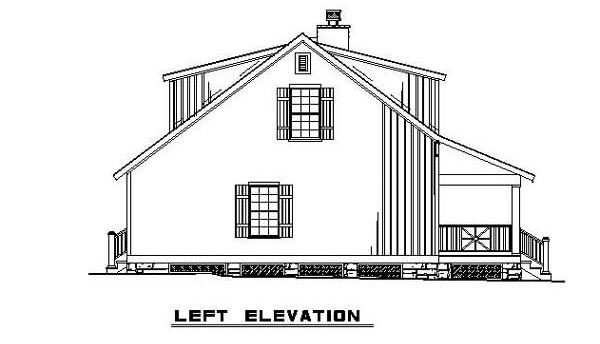 Bungalow Cabin Country Southern House Plan 62131