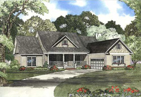 Country, Southern House Plan 62133 with 4 Beds, 3 Baths, 2 Car Garage Elevation